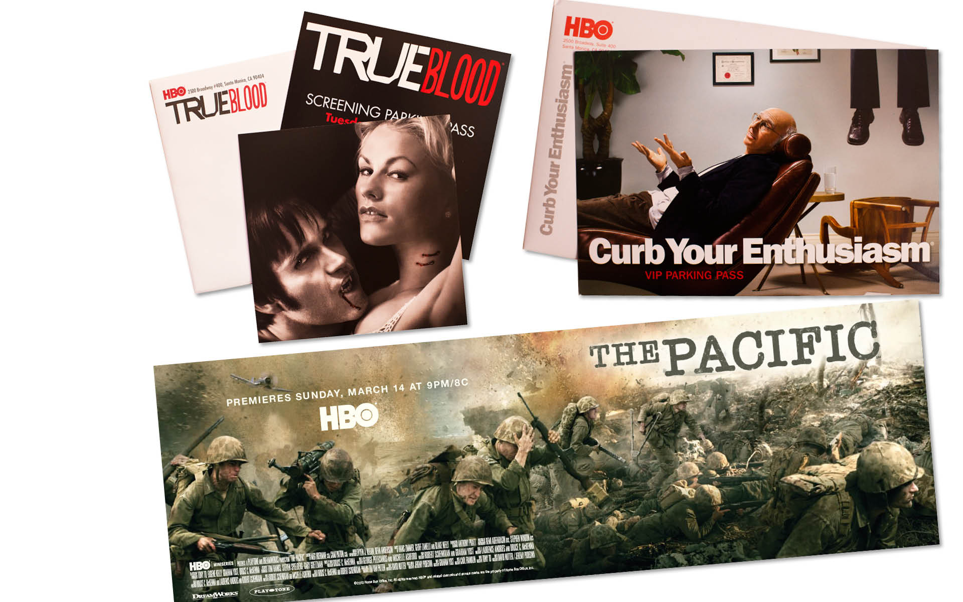 True Blood / Curb Your Enthusiasm / he Pacific  HBO TV Series